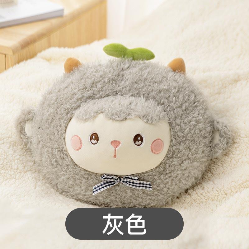 卡通小羊電熱水袋暖攪枕